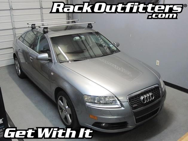 Audi A6 Sedan Thule Rapid Traverse SILVER AeroBlade Roof Rack U002705 U002711