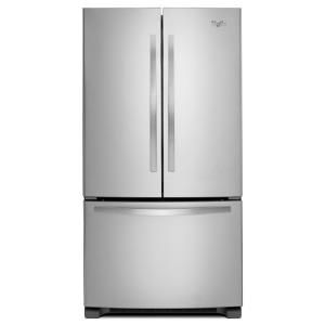 Whirlpool, 25.2 cu. ft. French Door Refrigerator in Monochromatic Stainless Steel, WRF535SMBM at The Home Depot - Mobile