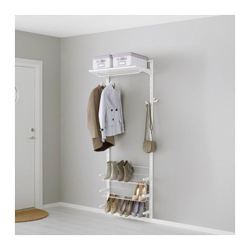 IKEA - ALGOT, Wall upright/shelves/shoe organizer, The parts in the ALGOT series can be combined in many different ways and easily adapted to…