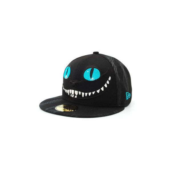 New Era 59Fifty Alice In Wonderland Cheshire Cat hats at lids.com ($40) ❤ liked on Polyvore