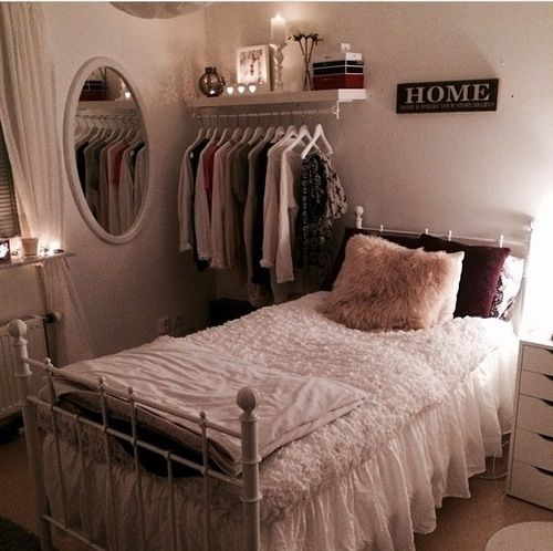 Beautiful Clothes Rack In A Small Room