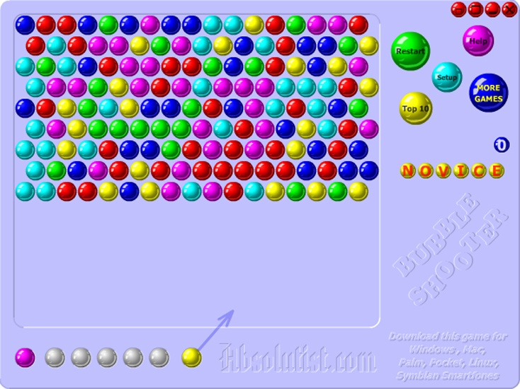 Play Online Free Bubble Shooter Game Free Now For Kid's This Is Bubble Shooter Game And Have Much More Fun. You Can Match 3 or more bubbles to knock them out And Win. Best Of Luck For Bubble Shooter Game.