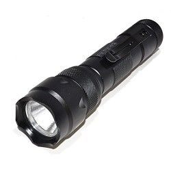 OREI 400 Lumens Professional High Quality Ultra Bright Tactical LED Flashlight with Rechargeable Lithium Battery – Charger Included