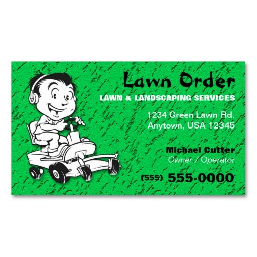 17 Best images about Business Cards Landscaping on