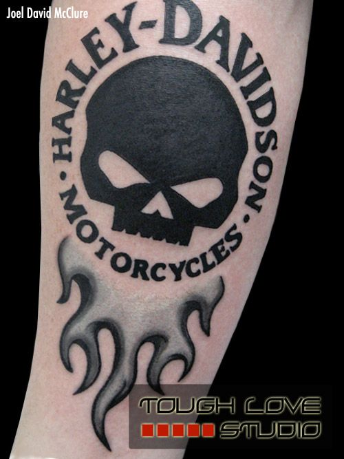 Harley Davidson Tattoo | Joel David McClure | Tough Love Studio
