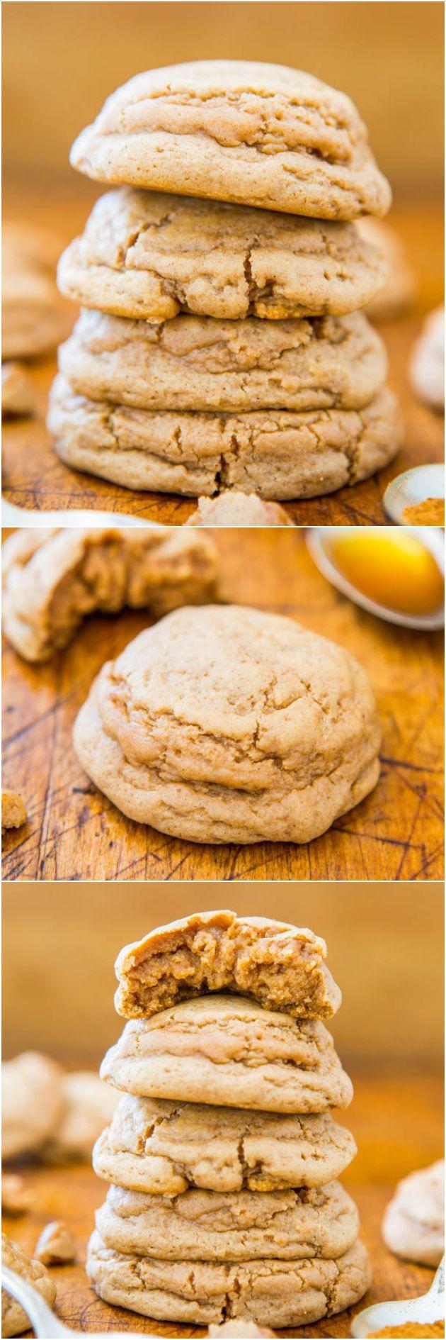 Soft and Puffy Pumpkin Spice Honey Cookies #pumpkin #cookies #dessert