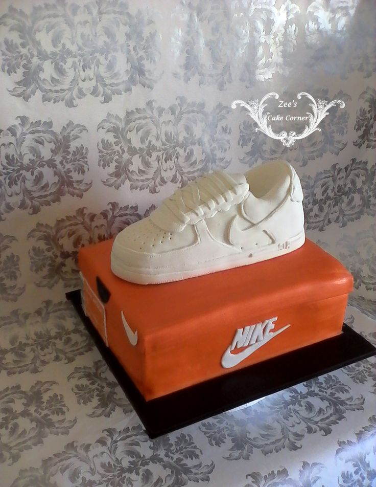 Nike Air Force themed Sneaker cake