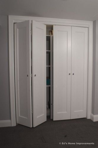 Bi-fold closet doors. This is what I want for our laundry room