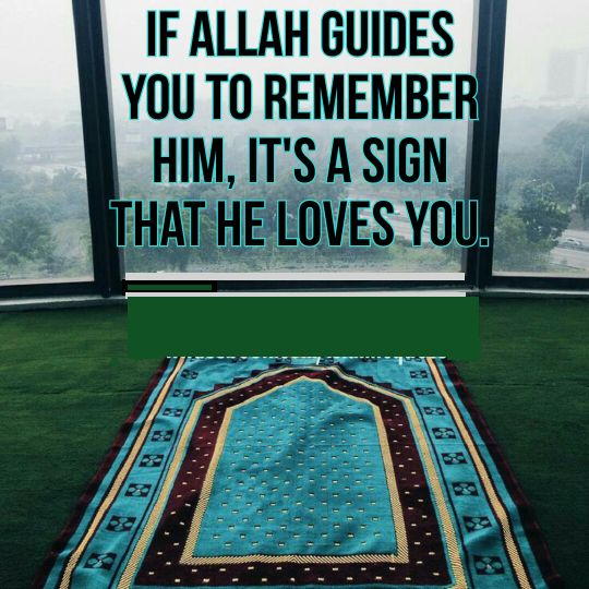 Its a sign that Allah loves you                                                                                                                                                                                 More
