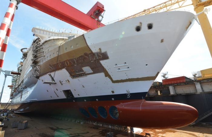 Royal Caribbean's 'Symphony of the Seas' Completes Next Phase of Construction.