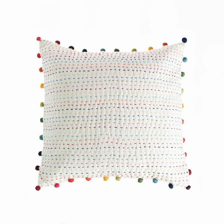 Love the pompom cushion