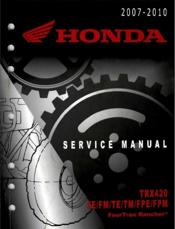407 best repair manuals save and just fix it yourself images 2007 2010 honda 420 rancher fe fm te tm fpe fpm service repair manual fandeluxe Image collections