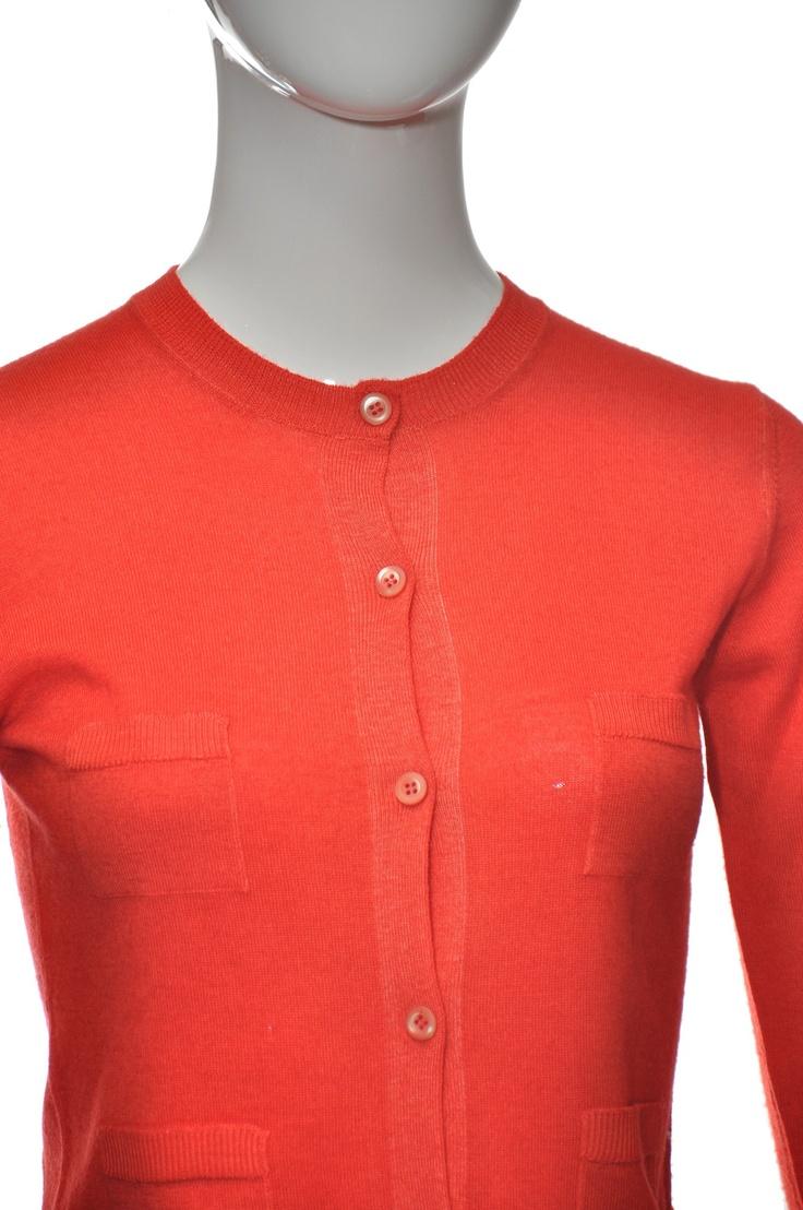 PRADA oranžový svetřík na zapínání 34 36 #prada #svetr #cardigan #oranžová #korálová