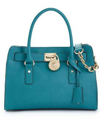 MICHAEL Michael Kors Hamilton Saffiano Leather E/W Satchel - Handbags & Accessories - Macy's