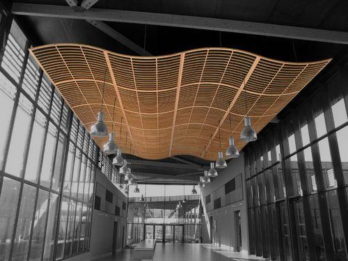 Sound absorption ceiling panel (acoustic cloud) LAUDER TRAMEO:SLOOP