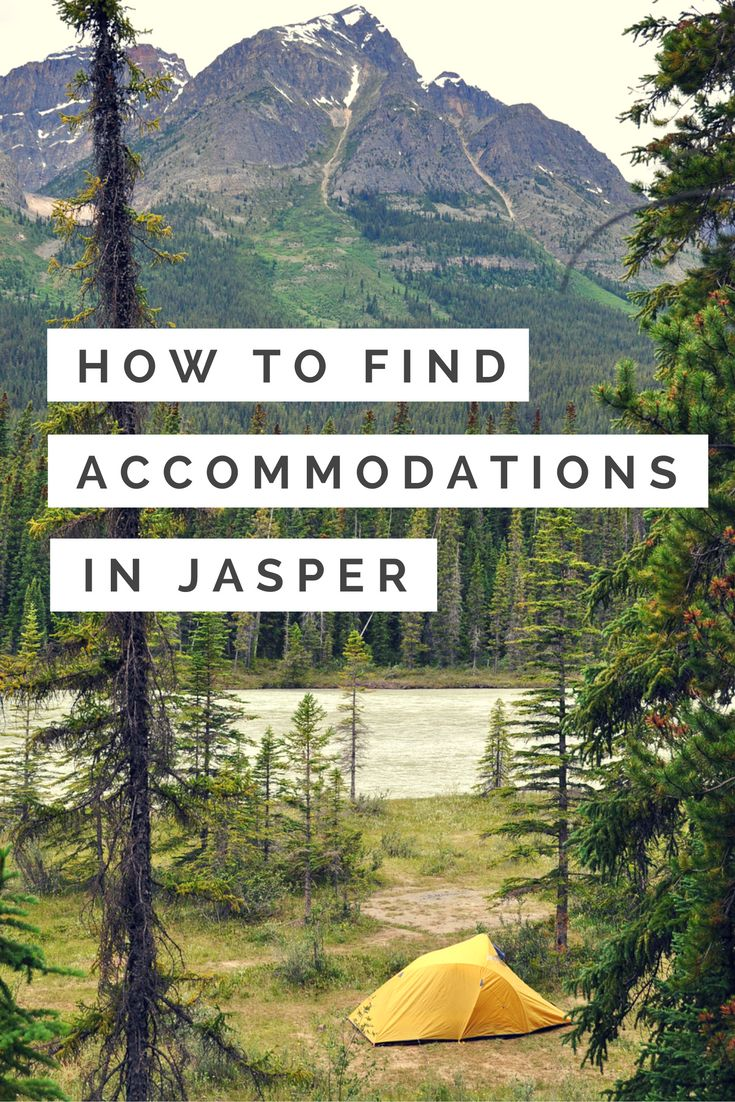 a guide to accommodations in Jasper National Park