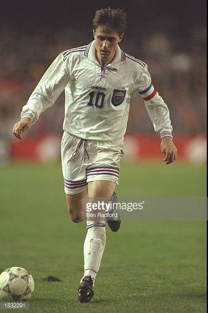 Dragan Stojkovic of Yugoslavia in action during the World cup qualifier between Spain and Yugoslavia in Valencia Spain Spain won the match 20...