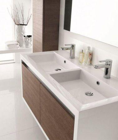 Inda Clever 120cm White Amp Timber Vanity Bathroom