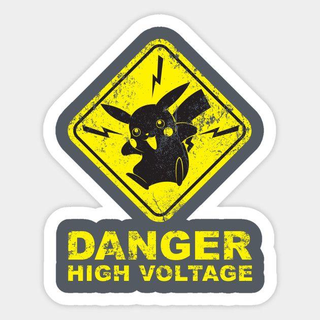 Pokemon Danger High Voltage High Voltage Pokemon Sticker Design