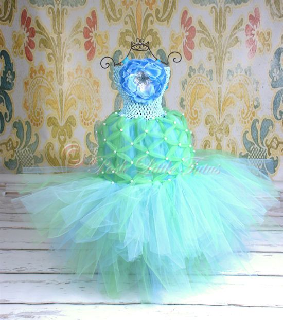 Enchanting Mermaid Baby & Little Girls Halloween Couture Tutu Costume. $110.00, via Etsy.