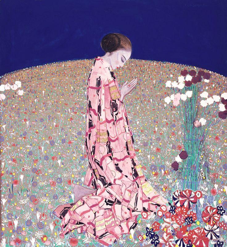 Felice Casorati, La preghiera, 1914 circa, tempera su panno, Galleria d'Arte Moderna Achille Forti