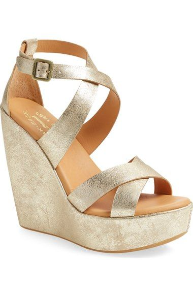 Kork-Ease® 'Grailey' Ankle Strap Wedge Sandal (Women) available at #Nordstrom