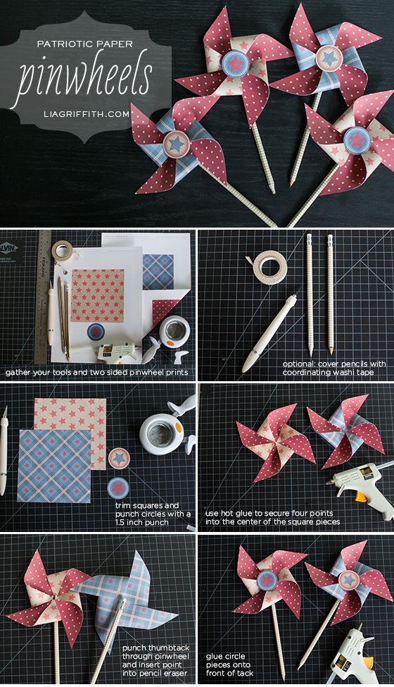 DIY Paper Pinwheel Tutorial from MichaelsMakers Lia Griffith