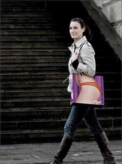 shopping bag- vía @Kenny Milano #idemtikosay love this concept!