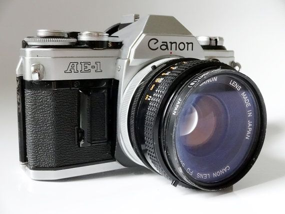 SALE  Classic Canon AE1 35mm Slr Film Camera by AntiqueApartment, $49.00