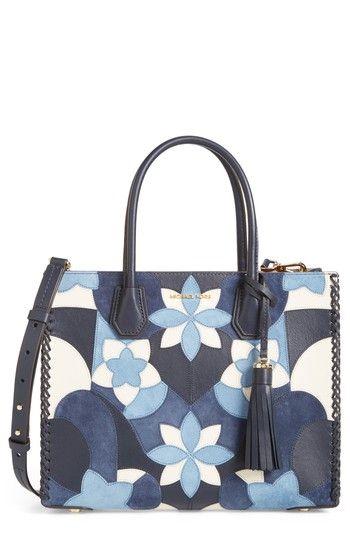 d898ab75c3c7 MICHAEL MICHAEL KORS MERCER LARGE TOTE - BLUE.  michaelmichaelkors  bags   shoulder bags  hand bags  leather  tote