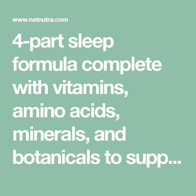 4-part sleep formula complete with vitamins, amino acids, minerals, and botanicals to support natural, healthy sleep.  Includes Vitamin B6, Pantothenic Acid, L-Theanine, GABA, Magnesium, Hops, Passion Flower, Chamomile, and Lemon Balm.  Great for travel, stress, or those with an altered sleep schedule.  Does not contain Valerian or Melatonin.