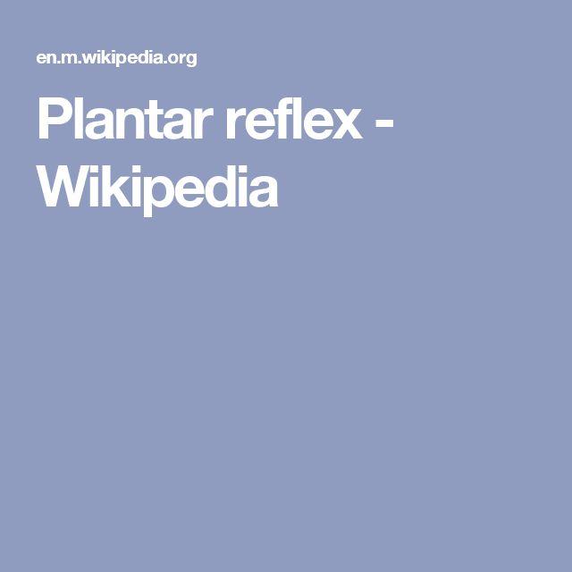 Plantar reflex - Wikipedia