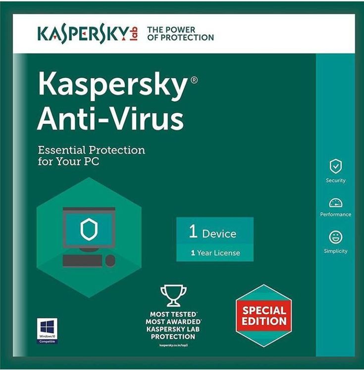 Kaspersky internet security will give you total PCs protection. You can buy this…