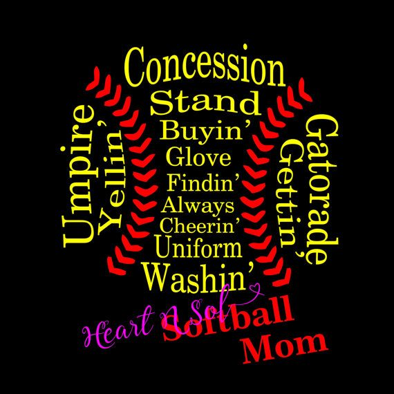 Softball Mom Shirt Softball mom Softball mom t-shirt by Heartnsol1