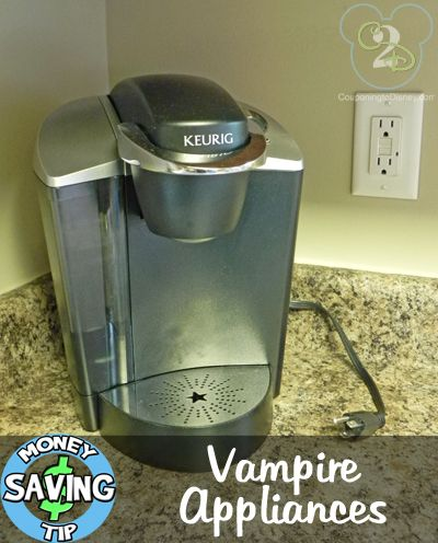 Vampire Appliances Do you unplug items that you don't use ? They call these vampire appliances and the average household has 20 of these in their house using electricity when they are NOT in use. They suggest you unplug everything from cell phone chargers to televisions that aren't being watched. I bet you would be surprised by the numbers of things around your home you can unplug!
