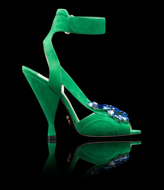 Prada Summer 2014 open-toe green