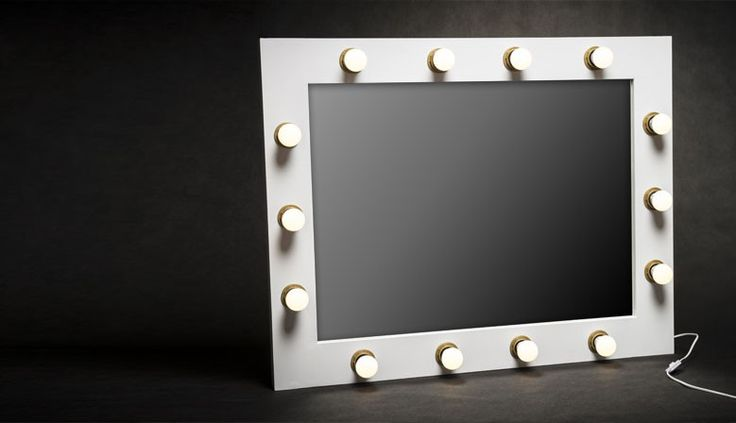 Make-up mirror with LED light bulbs in wooden frame. Tile dimensions: 60x80cm.  You can find all our designs and project at http://zapproject.pl/ Like us at facebook too ;) https://www.facebook.com/ZAPprojectGroup/