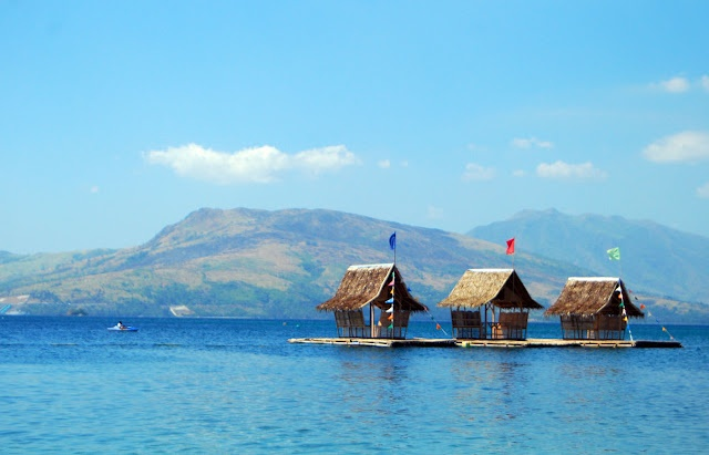 Floating Nipa huts, Subic Bay, Philippines.    Summer Loving | A nasty site.