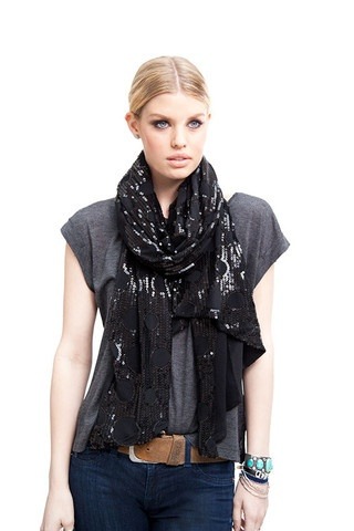 BLACK SEQUIN WRAP