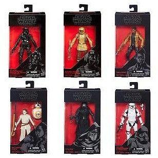 "Hasbro Star Wars Black Series 6"" Set of 6 . Sealed Case. Wave 3"