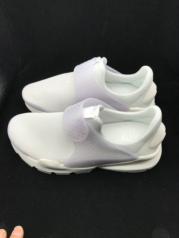 Youth Big Boys Nike Sock Dart Breeze Summer 2017 Triple White 896446 ... 994983d31