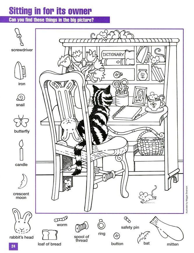 435 best hidden pictures images on Pinterest Hidden images, Hidden - new hidden alphabet coloring pages
