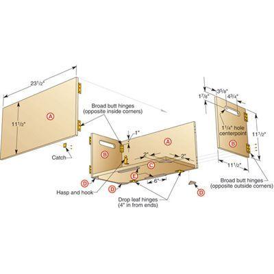 7 Best Folding Box Images On Pinterest Wood Crates