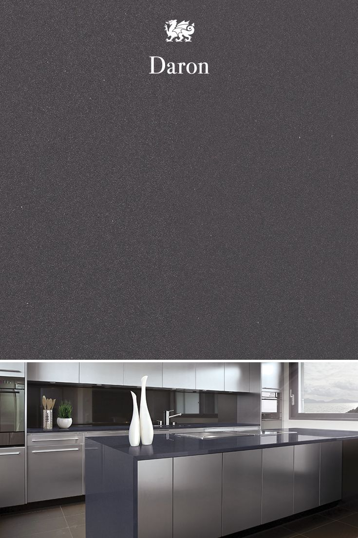 The deep shades of Daron™ set a strong and sleek tone for a modern, minimalist kitchen renovation.