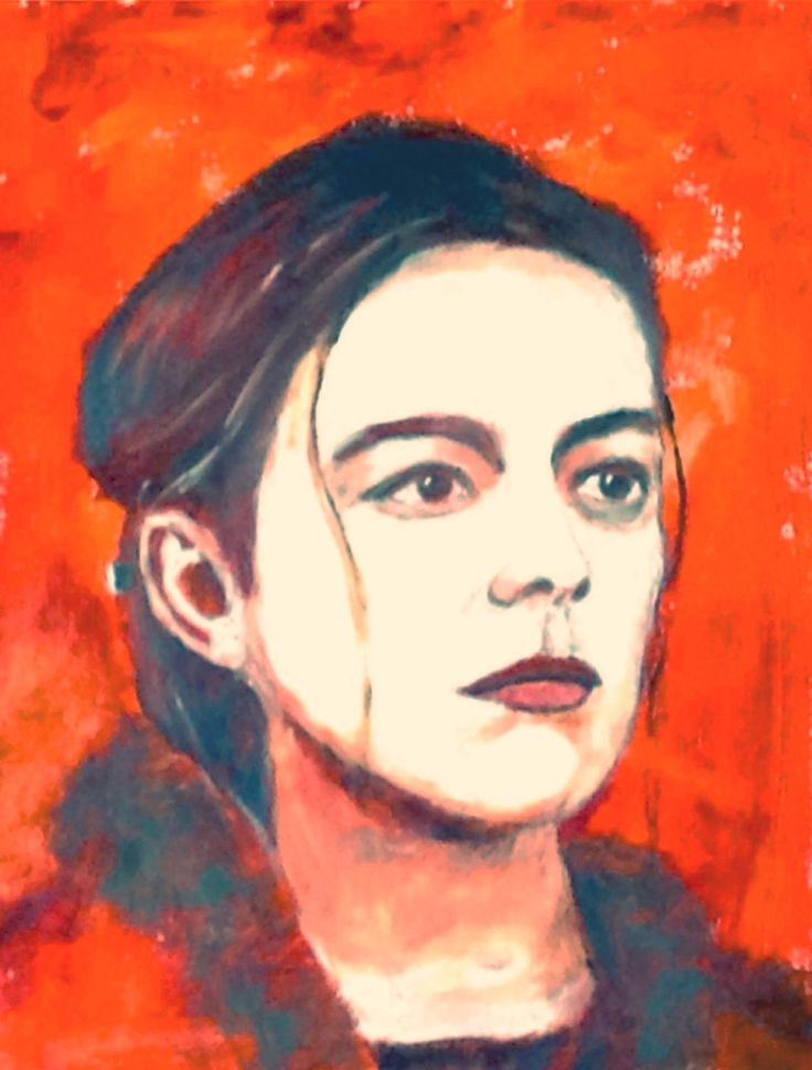Early attempt on British actress Olivia Williams, acrylic on paper