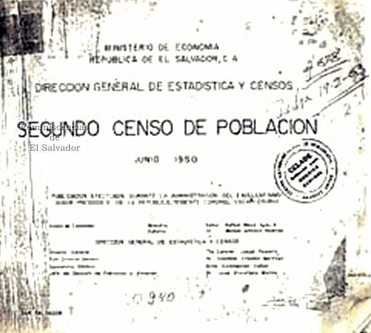 """1950 El Gobierno de El Salvador, funda el Departamento de Censos, independiente de la Dirección de Estadística, dicho departamento se encargó del Segundo Censo de Población, realizándose el 13 de junio de 1950 ; el cual se levantó sobre la base """"de facto"""". El total de población arrojado por el censo de 1950 fue de 1,855,917 habitantes, de los cuales 918,469 fueron hombres y 937,448 mujeres. Durante ese año, el 36% de los habitantes residía en el área urbana y el 64% en el área rural."""