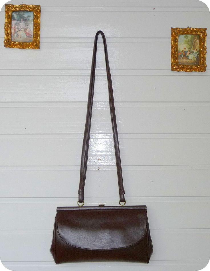 Luxus Vintage GOLDPFEIL Hand Tasche Bag Schultertasche Cognac Purse Sekretärin in Kleidung & Accessoires, Damentaschen | eBay