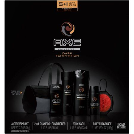 AXE Dark Temptation Holiday Gift Set for Men with Duffel Bag