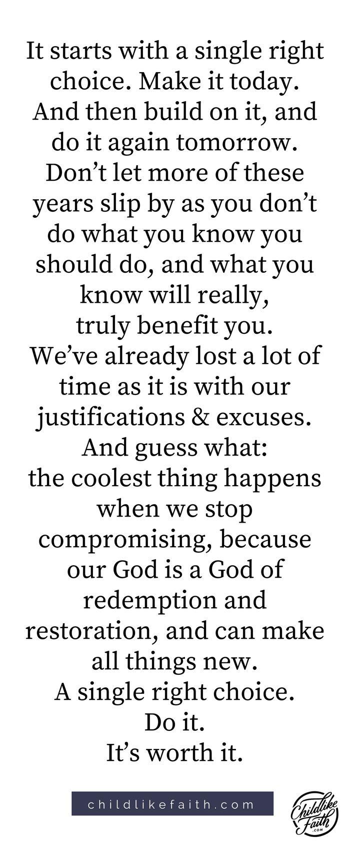 Stop compromising