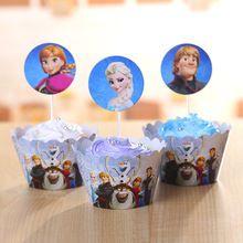 & % Cartoon Ijs Prinses Aisha Cupcake Wrappers Cupcake Toppers Verjaardag Taart Decoratie Event Feestartikelen Meisjes Gift(China (Mainland))